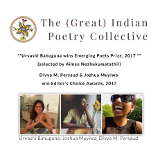 Editor's Choice Award for DO NOT PERFORM THIS, a book of poetry: https://divyampersaud.wordpress.com/2017/10/11/october-updates/